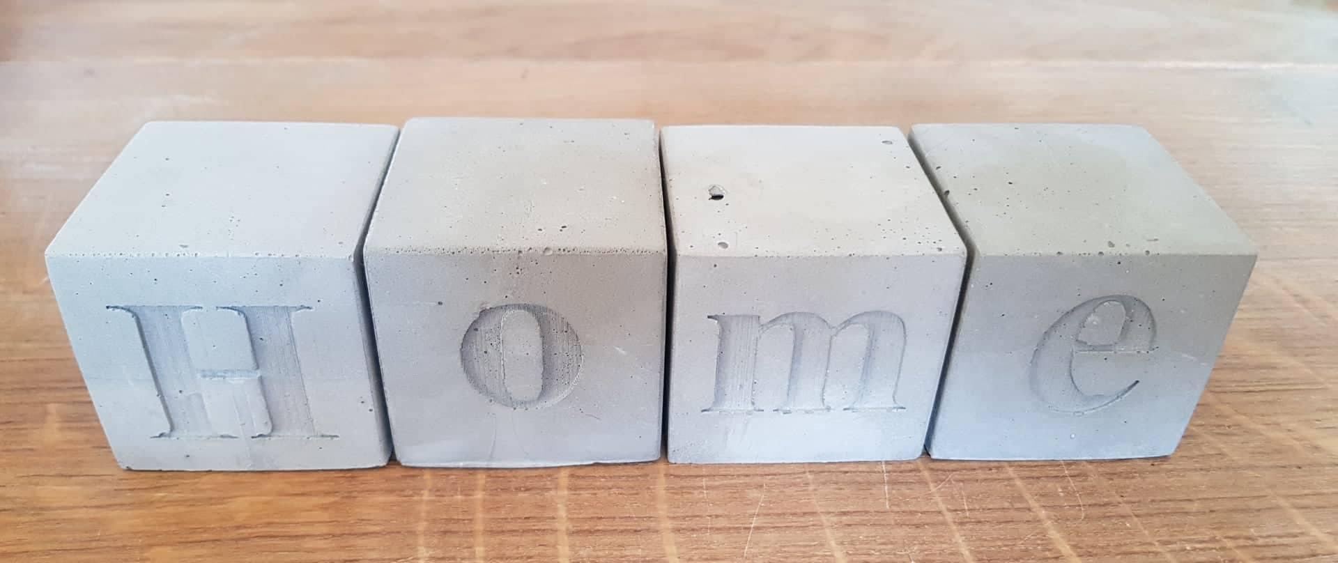 26 buchstabenw rfel 1 x 20 beton in form. Black Bedroom Furniture Sets. Home Design Ideas