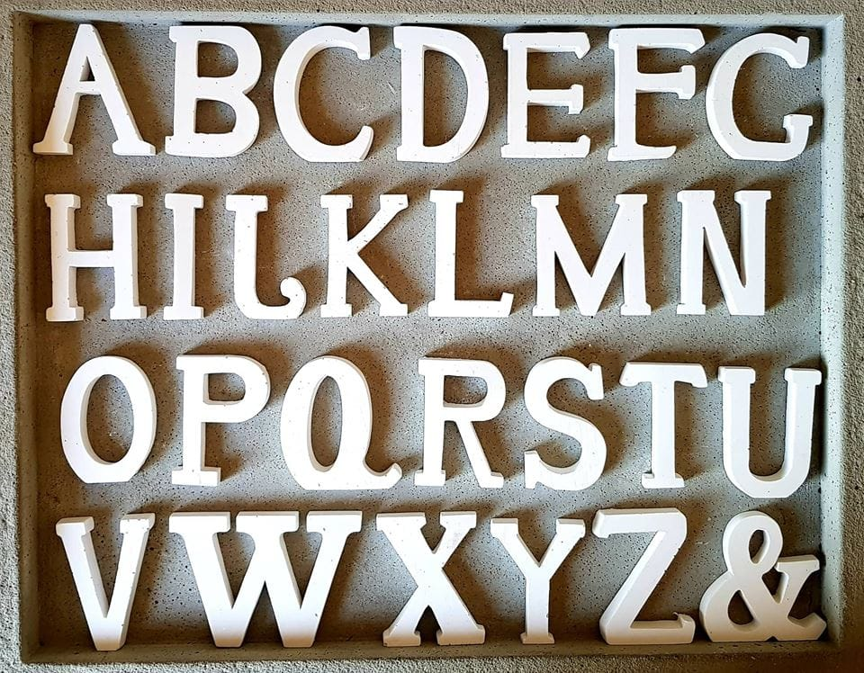 26 Buchstaben Kompatibel Mit Engelbuchstaben